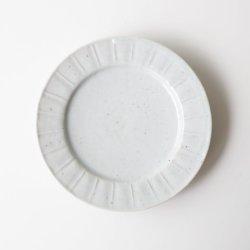 画像1: 岡さつき:白磁刻文輪花小皿